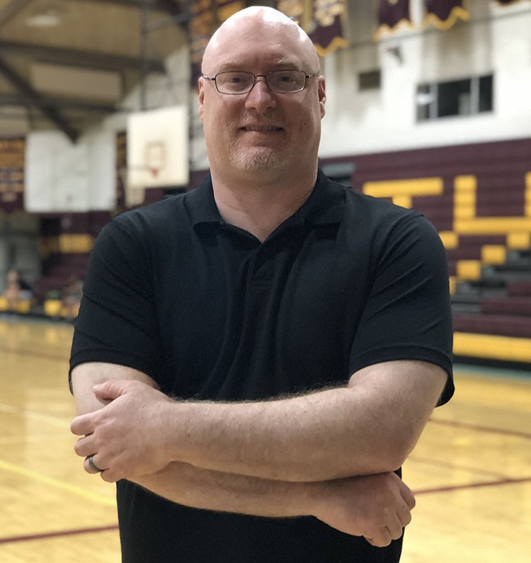 Mr.+Kevin+Byrne%2C+%E2%80%9992%2C++joins+the+WJ+community+this+year+as+the+new+Director+of+Alumni+Relations+and+head+basketball+coach.+