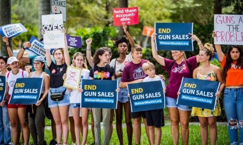 This is the March for Our Lives gun sales protest from Coral Springs, Florida in mid-August this year.