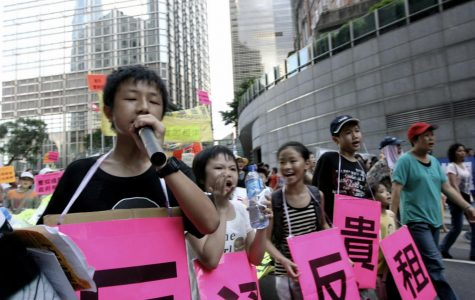 Protesters on Hong Kong voice out against concerns that China will reduce their powers of self rule.