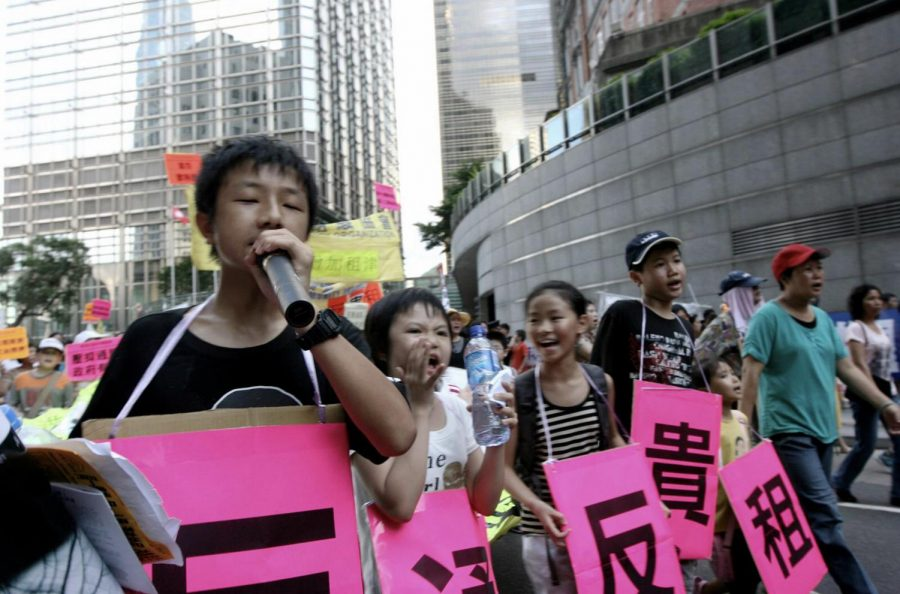 Protesters+on+Hong+Kong+voice+out+against+concerns+that+China+will+reduce+their+powers+of+self+rule.+