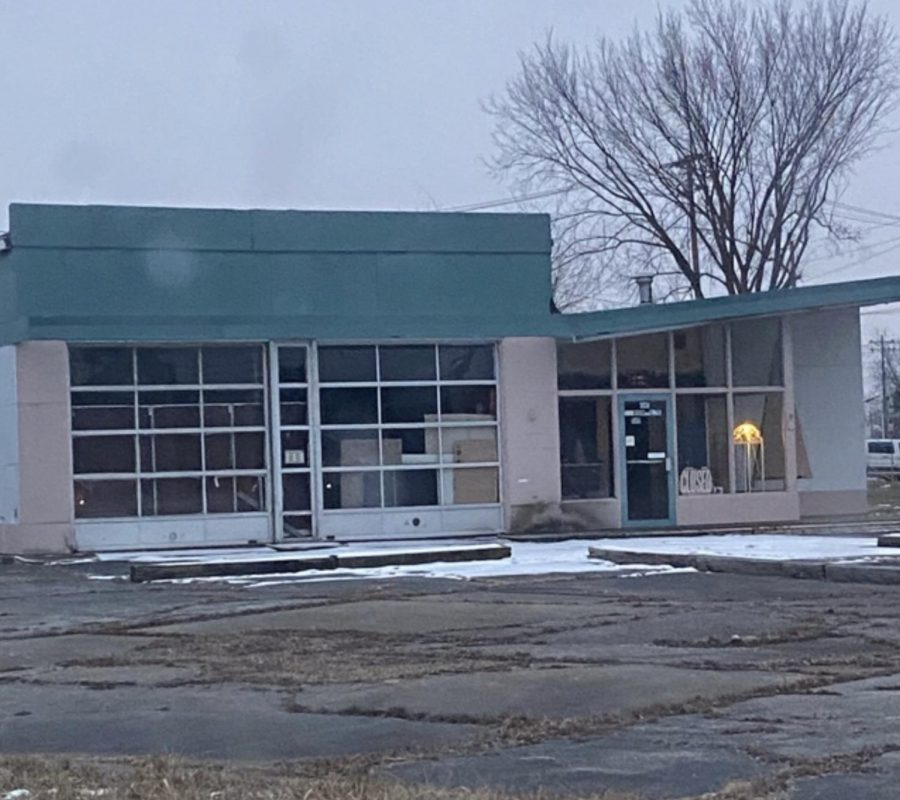 The source of great mystery, this dilapidated, abandoned thrift shop has sparked many a conversation on students' morning commutes.